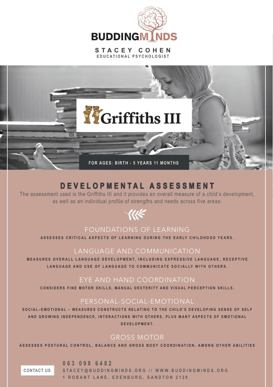 Budding Minds Griffiths ||| Flyer